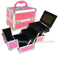 RZ-TNP8,Pink Aluminum Wholesale Makeup Cases,Cosmetic Box Manufacturer