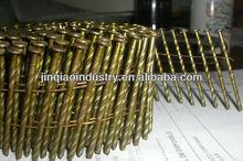 Blunt/chisel point15 degrees pallet wire coil nails/Clavos Pregos em rolo
