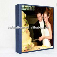 Glass cover wedding photo album design