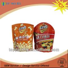 stand up ziplock packaging food bag/plastic bag food