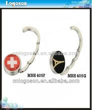 handbag hook/ fashion bag hangers/ foldable bag hanger metal