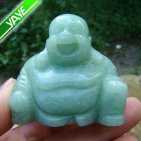 Green Aventurine Carving Laughing Buddha Statue