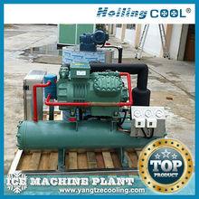 8t/day de congelación del hielo en escamas se utiliza la máquina de procesamiento de leche y productos lácteos/el uso del compresor bitzer, de hielo que hace la máquina