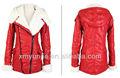 2014 moda mulheres couro pu algodão casacos de inverno com capuz casaco china atacado