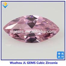 marquise shape pink synthetic zircon