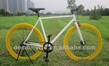 700C colorful rim new product fashion fixed gear bike