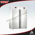 4 doble puerta de la temperatura del refrigerador y del congelador/comercial refrigerador de gas/twin refrigerador y el congelador