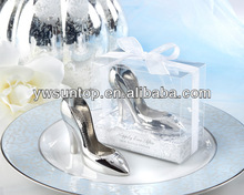 """""""A Perfect Fit!"""" Chrome High Heels Bottle Opener Wedding Decoration"""