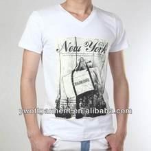 2014 Fashion Hot Sale 100%Cotton Deep V Neck T Shirts For Men Design Clothes Wholesale
