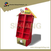 Custom Retail Store House Shape Cardboard Display Shelf