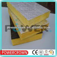 Steel construction roof fiberglass felt/Glass Wool blanket with aluminum foil