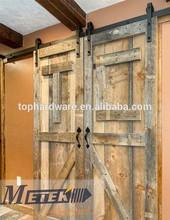 Modern Interior Solid Wood Sliding Barn Door Hardware