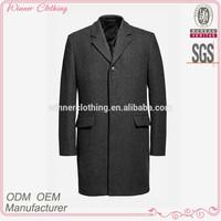 Fashion design elegant grey style long coat suit men