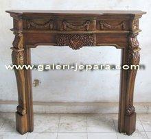 Wooden Mantel Fireplace - Antique Furniture
