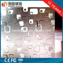 4mm deep acid etched /frosting decorative glass