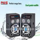 Karaoke DJ 2.0 subwoofer mini speaker portable magnetic speakers with colorful light