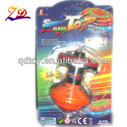 high quality orange flash music spin toy toys