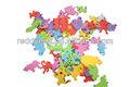 animais em forma de espuma de eva adesivos coloridos