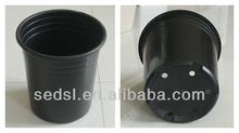5 gallon round plastic black flower pot, nursery pot, nursery planter for tree