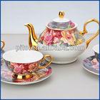 bone china tea set with elegant design