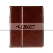 2014 Brown Genuine Leather case for iPad 4 folio cover