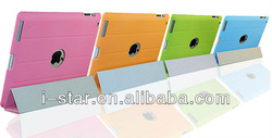 hot sell top sell leather tablet case for apple for aipad 2 3 4 case