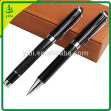 JDS-YTQ Promotion gift pen carbon fiber pen set with client logo