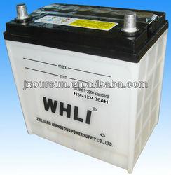 12 volta Lead Acid Battery N36 12V36AH WHLI