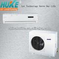 Fixado na parede condicionador de ar split 12000btu-36000btu refrigeração& aquecimento efficieny alta compressor novo design conduziu a exposição