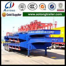 Q345 main beam 4 axles hydraulic ramp low loader semi trailer for sale