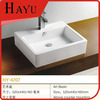 HY-4707 Hot Sale Square Ceramic Commercial Bathroom Sink Countertop