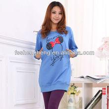 Wholesale office green maternity dress blue breastfeeding hoody orange nursing long sleeve AK035