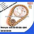 Corrente da motocicleta, corrente da motocicleta ea roda dentada, qualidade superior e vender barato mini moto peças de reposição