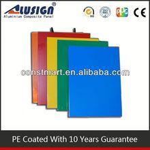 interior used PE exterior composite aluminum cladding