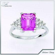 fashion Deigned White Gold Plating Fake Gemstone Ring