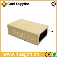 2014 home design popular bluetooth speaker Led display wooden made best promotional gift