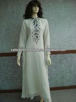 Fashionable White Egyptian Kaftan 2013