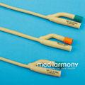 Desechables de silicona- recubiertos de látex catéter de foley de dos vías