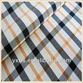 Fios tingidos de algodão xadrez brilhante laranja tecido