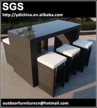 aluminium and PE rattan woven outdoor furniture