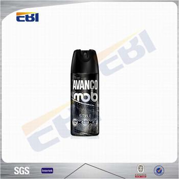 Empty spray car air freshener bottle