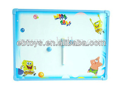 Double-sided plastic magnetic writing whiteboard with pen