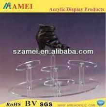 custom acrylic wicker shoe rack/POP acrylic wicker shoe rack