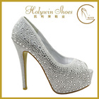 Holywin elegance crystal fashion rhinestone high heel women's shoes