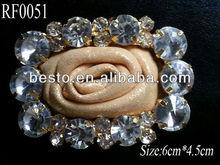RF0051 Ladies fashion leather center rhinestone belt buckle for women belts