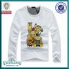 2014 long sleeves dress designs teenage girls T shirts for childrens printing girl's t shirts