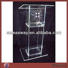 Transparent clear acrylic church pulpit