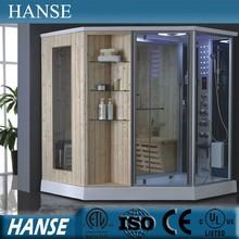 HS-SR079 steam sauna cabin, sauna and steam combined room, sauna shower combination