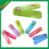 transparent color plastic pencil box for kids