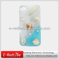 seashell crystal diamond fashional pc case for iphone 5